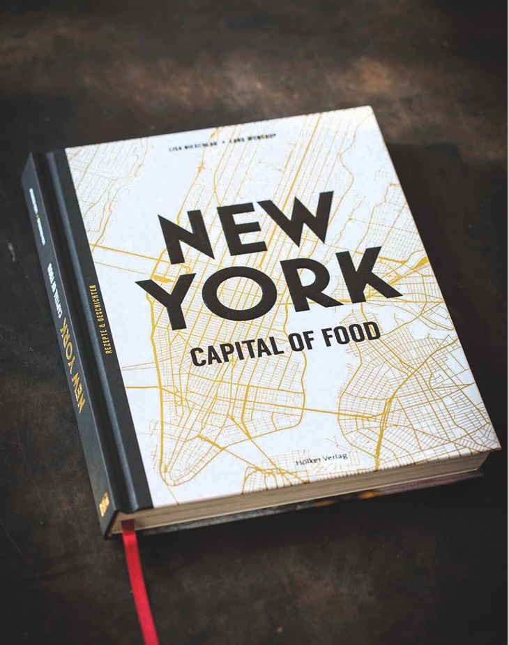 """Kochbuch Cover """"New York Capital of food"""""""