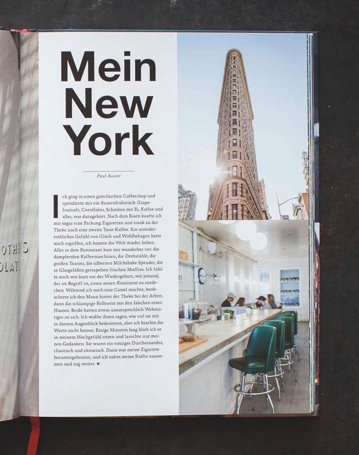 "Innenlayout Kochbuch ""New York Capital of food"""