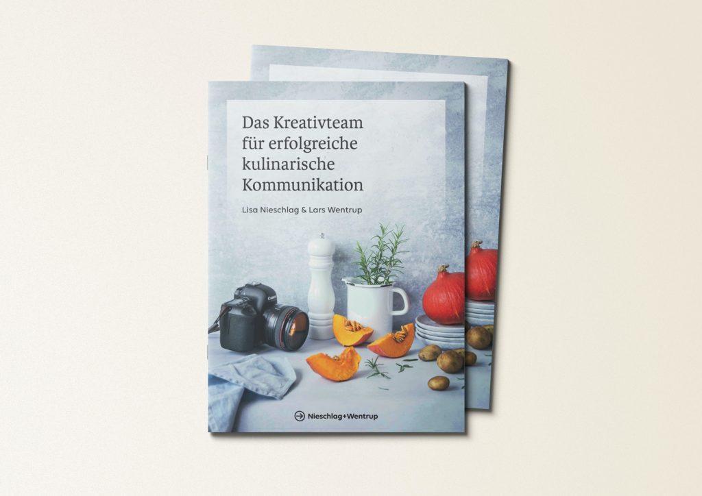 """Gedruckte Broschüren über unsere Kompetenz """"Kulinarische Kommunikation"""""""