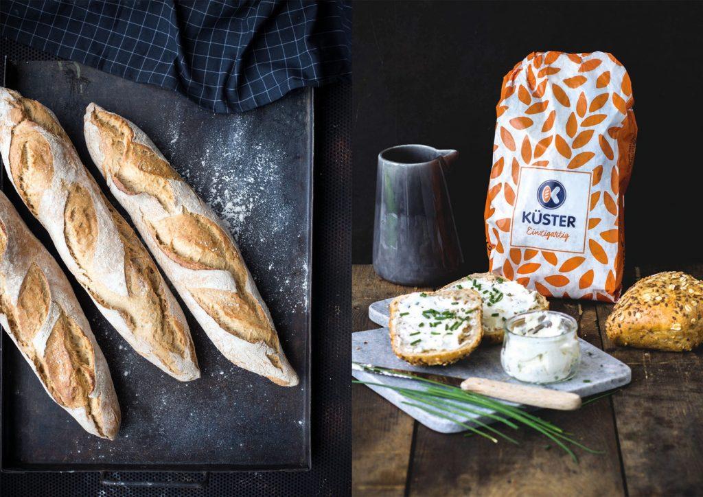 Food-Fotografie des Bäckerei-Sortiments durch Nieschlag + Wentrup für die Bäckerei Küster. Köstlich inszinierte Bilder unterstützen die Botschaften von Unternehmen.