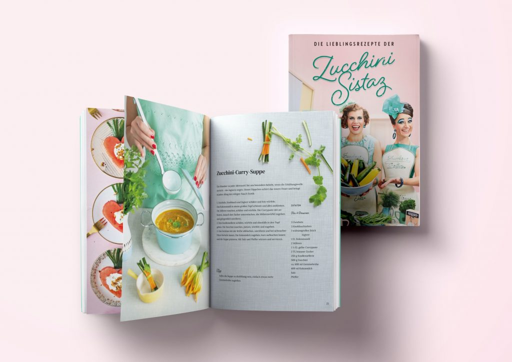 Für die Musikerinnen der Zucchini Sistaz kreierte Nieschlag + Wentrup ein Kochbuch ihrer Lieblingsrezpte.