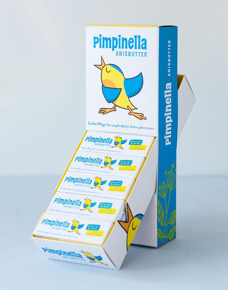 Aufsteller und Verpackungsdesign für Pimpinella Anisbutter