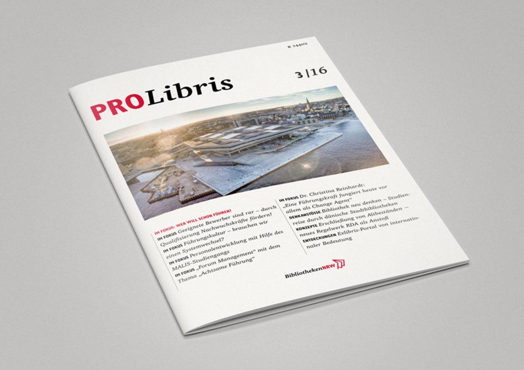 Covergestaltung Magazin ProLibris der Bibliotheken NRW