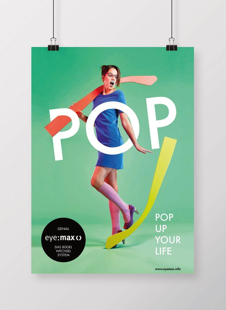 """Pop up Your Life"" Kampagnenmotif"