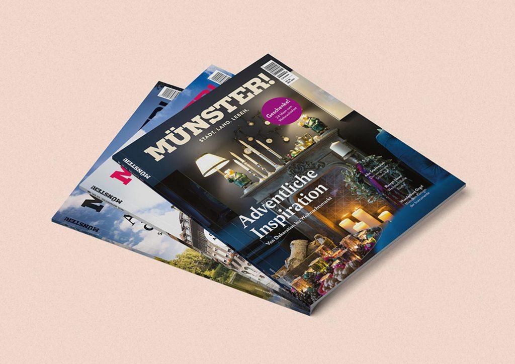 Cover mehrerer MÜNSTER-Magazin-Ausgaben