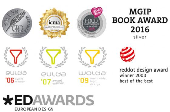 Logos von Preisen und Auszeichnungen